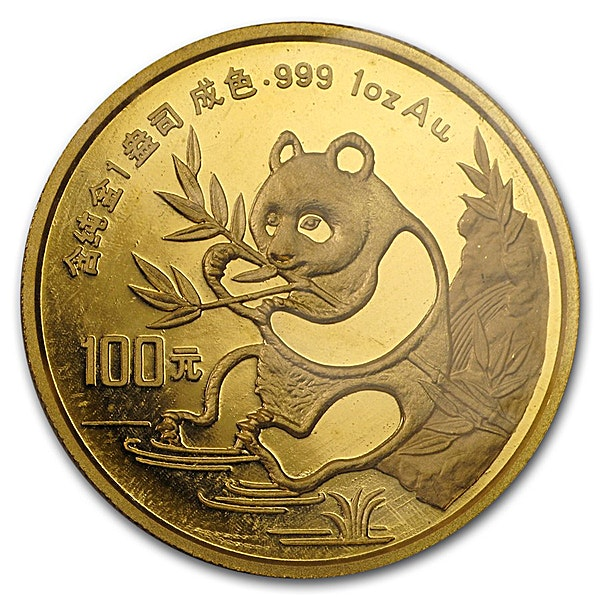 Chinese Gold Panda 1991 - 1 oz
