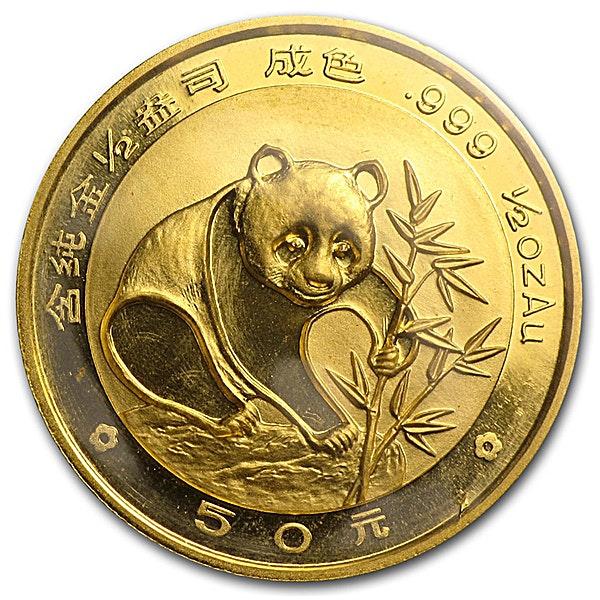 Chinese Gold Panda 1988 - 1/2 oz