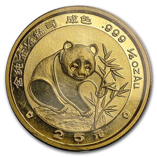 Chinese Gold Panda 1988 - 1/4 oz