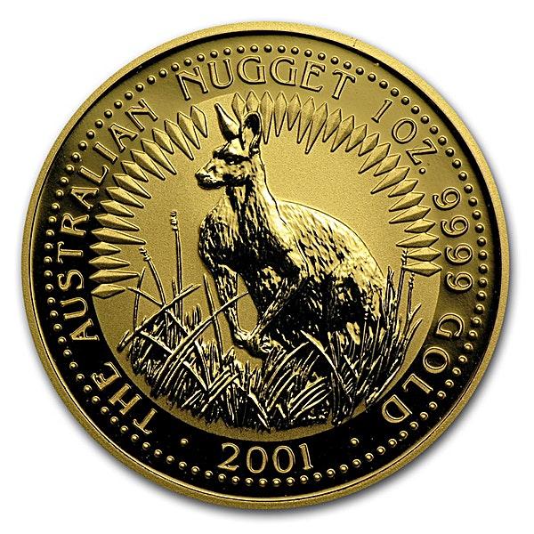 Australian Gold Kangaroo Nugget 2001 - 1 oz