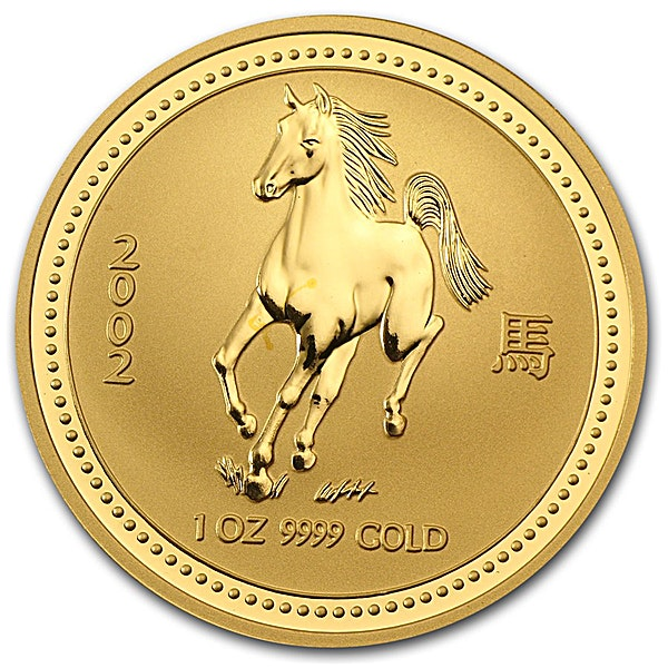 Australian Gold Lunar Series 2002 - Year of the Horse - 1 oz