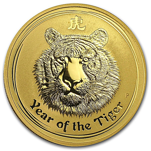 Australian Gold Lunar Series 2010 - Year of the Tiger - 1 oz