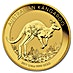 Australian Gold Kangaroo Nugget 2017 - 1/4 oz thumbnail