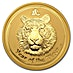 Australian Gold Lunar Series 2010 - Year of the Tiger - Circulated in good condition - 2 oz thumbnail