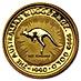 Australian Gold Kangaroo Nugget 1990 - 1/4 oz thumbnail