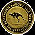 Australian Gold Kangaroo Nugget 1990 - 1/10 oz thumbnail