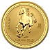 Australian Gold Lunar Series 2002 - Year of the Horse - 1 oz thumbnail