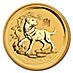 Australian Gold Lunar Series 2018 - Year of the Dog - 1/4 oz thumbnail
