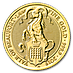 United Kingdom Gold Queen's Beast 2019 - The Yale - 1/4 oz thumbnail