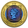Gilbraltar Bi-Metal Gold and Titanium Tuppenny Blue 1 Crown 2000 - 26.3 g