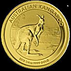 Australian Gold Kangaroo Nugget 2013 - 1/4 oz thumbnail