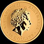Australian Gold Kangaroo Nugget 2017 - 1/2 oz thumbnail