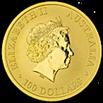 Australian Gold Kangaroo Nugget 2014 - 1 oz thumbnail