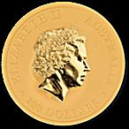Australian Gold Kangaroo Nugget 2016 - 1 oz thumbnail