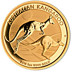 Australian Gold Kangaroo Nugget 2018 - 1 oz thumbnail