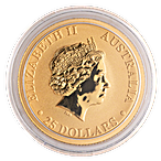 Australian Gold Kangaroo Nugget 2018 - 1/4 oz thumbnail