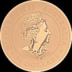 Australian Gold Kangaroo Nugget 2020 - 1/2 oz thumbnail