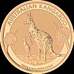 Australian Gold Kangaroo Nugget 2020 - 1/4 oz thumbnail