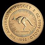 Australian Gold Kangaroo Nugget 1992 - 2 oz  thumbnail