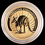 Australian Gold Kangaroo Nugget 2011 - 1/10 oz thumbnail