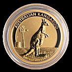 Australian Gold Kangaroo Nugget 2012 - 1/4 oz thumbnail