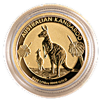 Australian Gold Kangaroo Nugget 2020 - 1/10 oz thumbnail