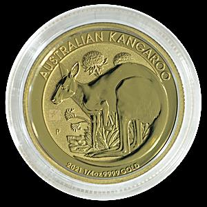 Australian Gold Kangaroo Nugget 2021 - 1/4 oz