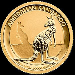 Australian Gold Kangaroo Nugget 2016 1 10 Oz