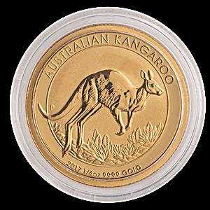 Australian Gold Kangaroo Nugget 2017 - 1/4 oz