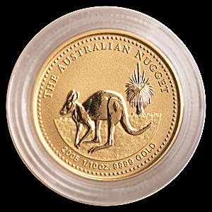 Australian Gold Kangaroo Nugget 2005 - 1/10 oz