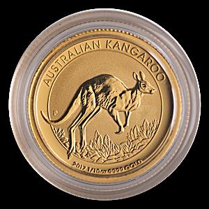 Australian Gold Kangaroo Nugget 2017 - 1/10 oz