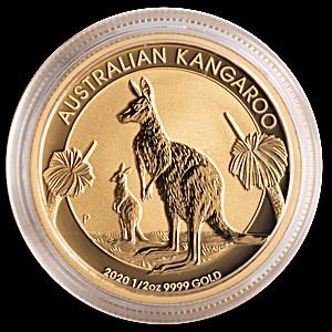 Australian Gold Kangaroo Nugget 2020 - 1/2 oz