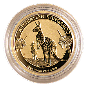 Australian Gold Kangaroo Nugget 2020 - 1/10 oz