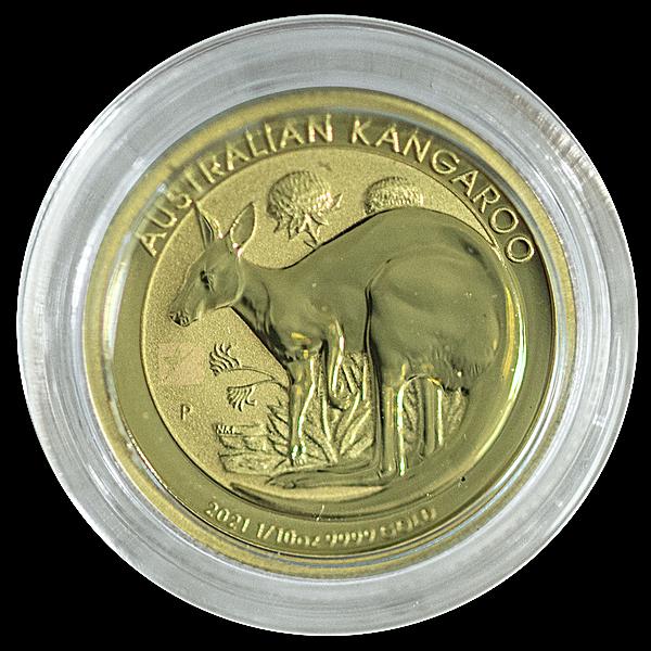 Australian Gold Kangaroo Nugget 2021 - 1/10 oz