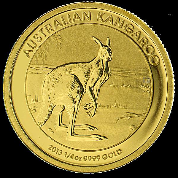 Australian Gold Kangaroo Nugget 2013 - 1/4 oz