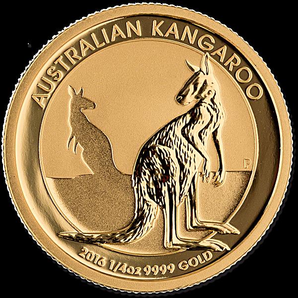 Australian Gold Kangaroo Nugget Various Years - 1/4 oz