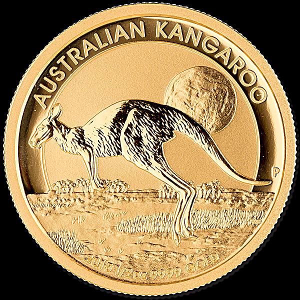 Australian Gold Kangaroo Nugget Various Years - 1/2 oz