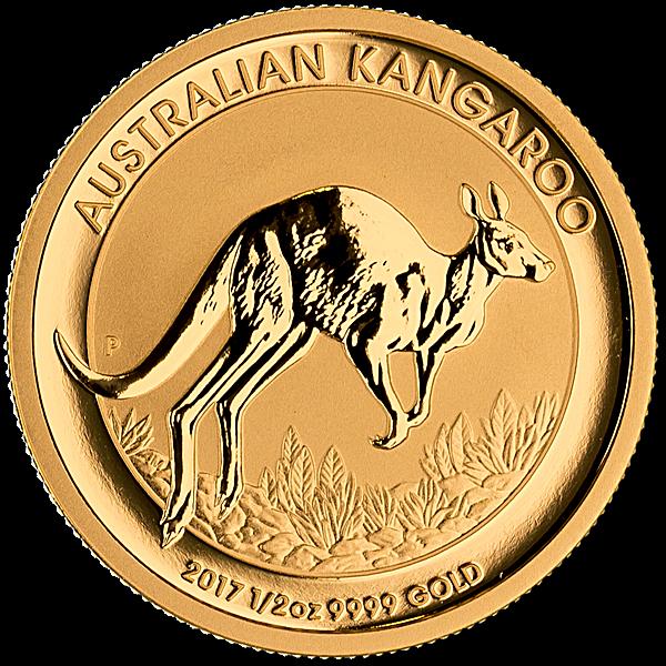 Australian Gold Kangaroo Nugget 2017 - 1/2 oz
