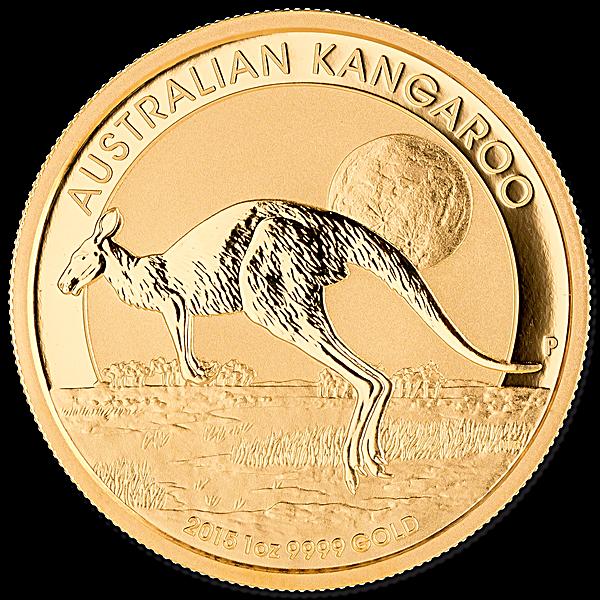 Australian Gold Kangaroo Nugget 2015 - 1 oz