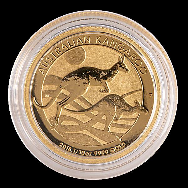 Australian Gold Kangaroo Nugget 2018 - 1/10 oz
