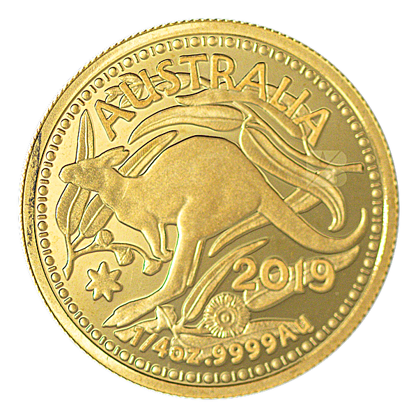 Australian Gold Kangaroo 2019 - Circulated in good condition - Minted by RAM - 1/4 oz