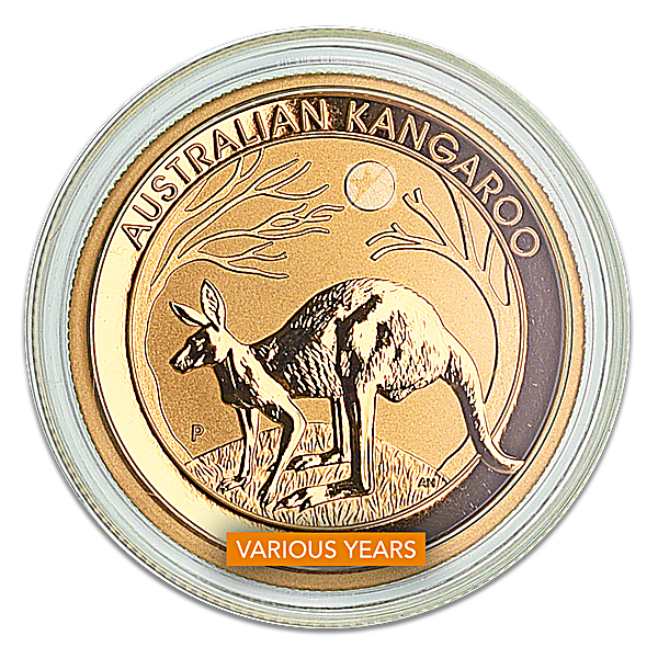 Australian Gold Kangaroo Nugget Various Years - 1/2 oz