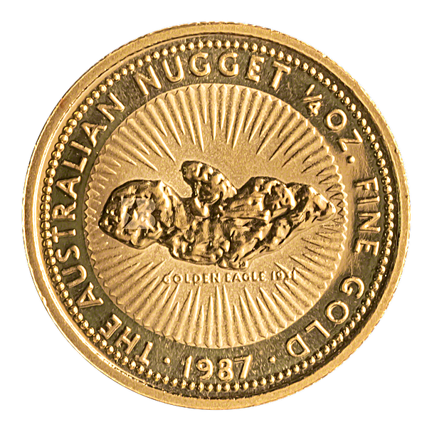 Australian Gold Kangaroo Nugget 1987 - 1/4 oz