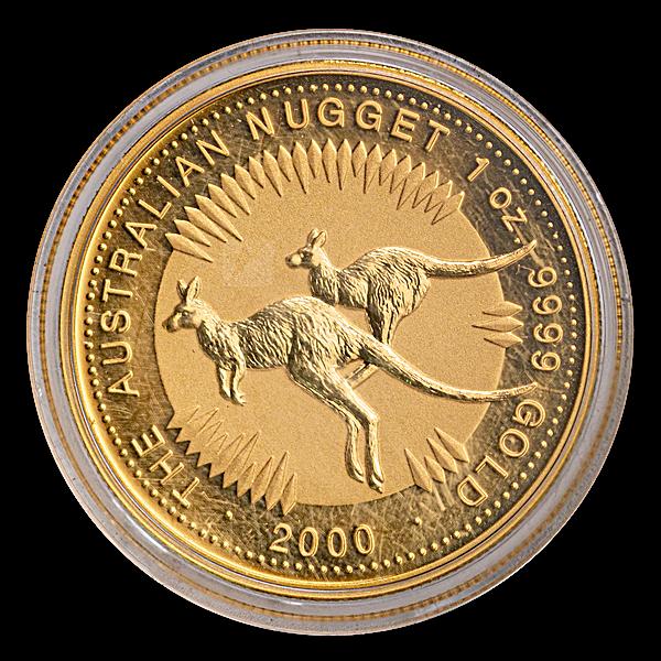 Australian Gold Kangaroo Nugget 2000 - 1 oz