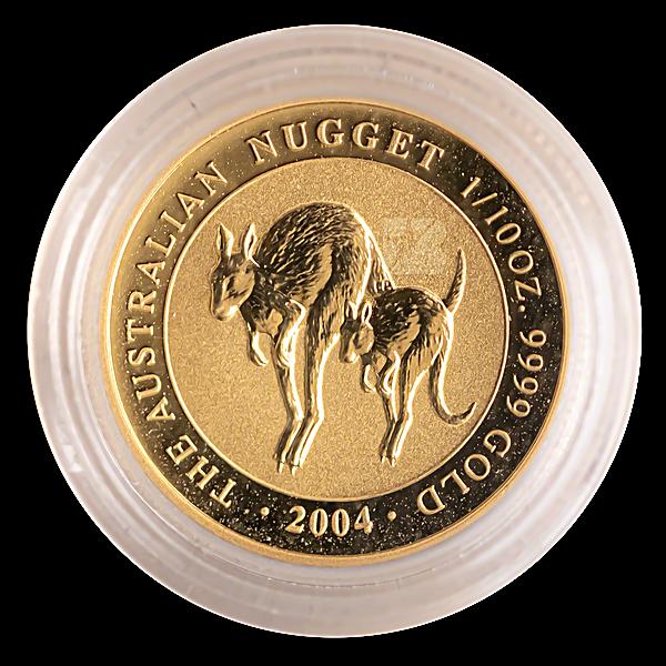 Australian Gold Kangaroo Nugget 2004 - 1/10 oz