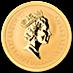 Australian Gold Kangaroo Nugget 1990 - 1 oz thumbnail