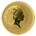 Australian Gold Kangaroo Nugget 1996 - 1/2 oz thumbnail