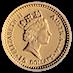 Australian Gold Kangaroo Nugget 1993 - 1/10 oz thumbnail
