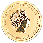 Australian Gold Lunar Series 2019 - Year of the Pig - 1/20 oz thumbnail