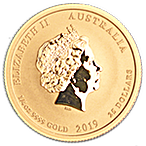 Australian Gold Lunar Series 2019 - Year of the Pig - 1/4 oz thumbnail
